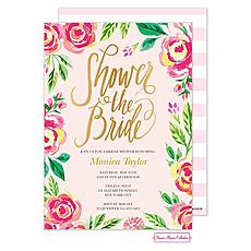 : Watercolor Pink Blossoms Invitation