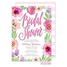 : Watercolor Bridal Shower (White) Invitation