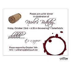 : Wine Stain Invitation