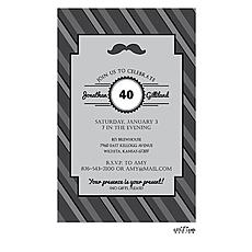 : Mustache Invitation