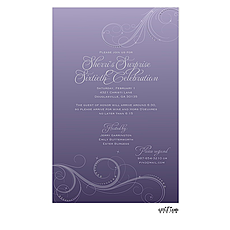 Thistle Swirls Invitation -