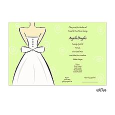 : Wedding Dress Invitation