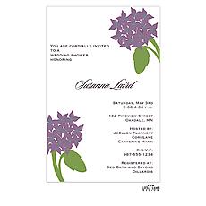 Purple Bouquet Invitation -
