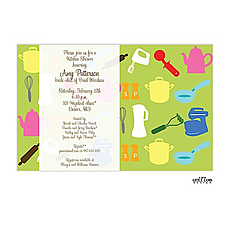 Kitchen shower invitation -