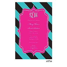 Bold Stripes Invitation -