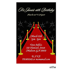 : Red Carpet Invitation