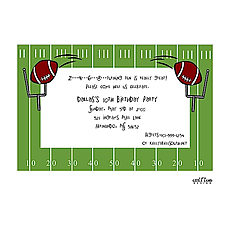 : Football Field Invitation