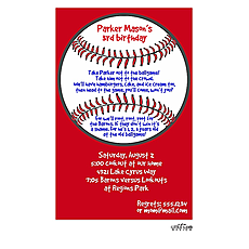 : Red Baseball Invitation