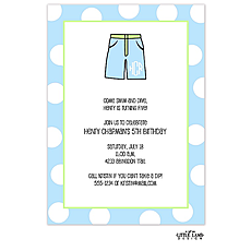 : Boys bathing suit invitation