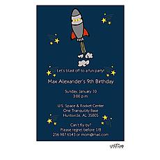 : Rocket Ship Invitation