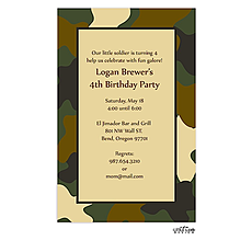 : Camouflage Invitation