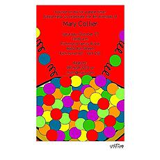 : Bouncey Ball Invitation
