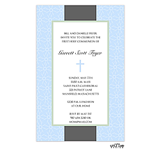 : Blue cross invitation
