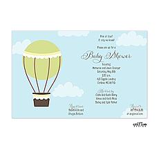 : Hot Air Balloon Invitation
