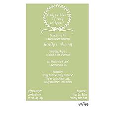 : Delicate Wreath Invitation