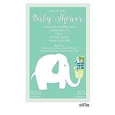 : Baby Elephant Invitation