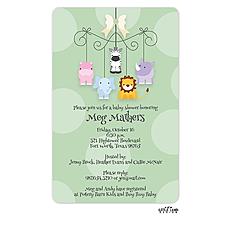 : Sweet Animals Mobile Invitation
