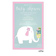 Baby Elephant Invitation -