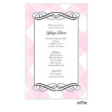 : Pink Plaid Invitation
