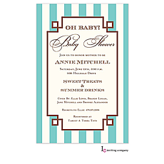 : Meander Aqua Invitation