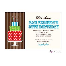 His Cake Stand Invitation -