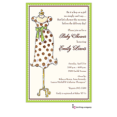: Mommy Mannequin Invitation