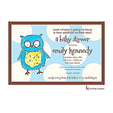 Owl Boy Invitation -