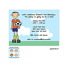 : Soccer Boy Invitation