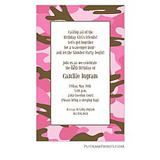 : Pink Camo Invitation