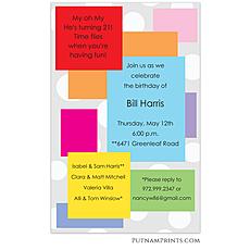 : Block Party Invitation