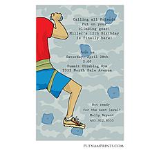 : Climbing wall Invitation