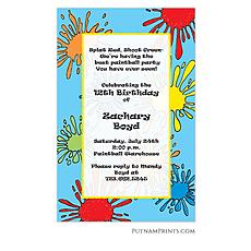 : Paintballer Invitation