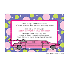 Pink Limo Invitation -