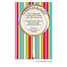 : Rainbow Swirl Invitation