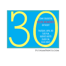 : Big 3-0 Flat Invitation