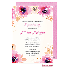 Blushing Floral Invitation -