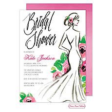 Stylish Bridal Silhouette Invitation -