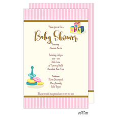 : Baby Toys Shower Invitation