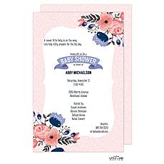 : Flowery Baby Shower Invitation