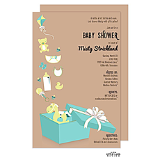 Open Baby Shower Gift Box Invitation -