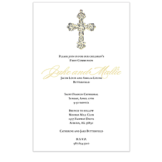 Elegant Framed Cross Invitation -
