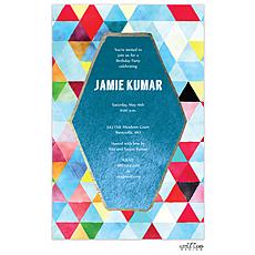 : Watercolor Kaleidoscope Invitation