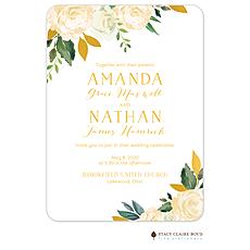 : Dreamy Blooms Foil Pressed Invitation