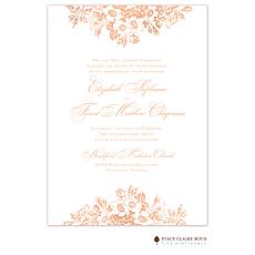 : Bouquet Border Foil Pressed Invitation
