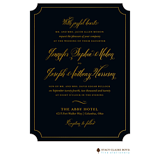 : Simply Shining Foil Pressed Invitation