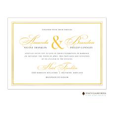 : Classic Shine Foil Pressed Invitation