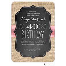 : BBQ Birthday Invitation