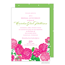 Pink Flowers Invitation -