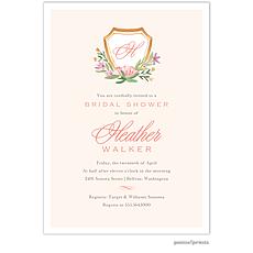 Floral Crest Invitation -
