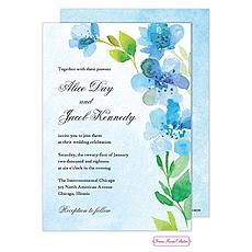: Blue Floral Invitation